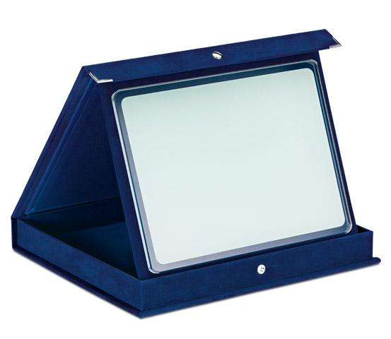 Astucci in velluto blu con vetro sublimatico serie AS 700V SUB