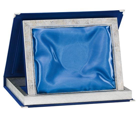 Astucci in velluto blu con raso per targhe serie AS 11STB