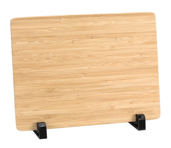 Bamboo plaque holder with feet series BA 13