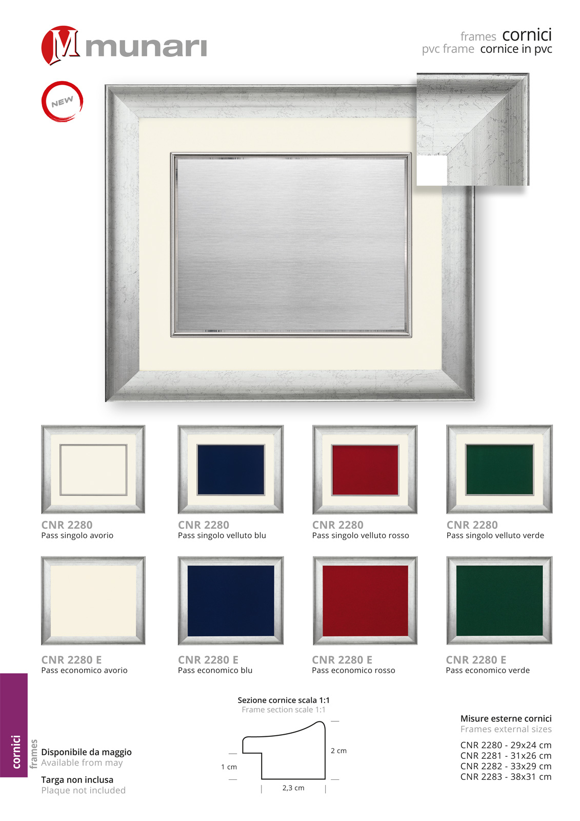 PVC Frame for Plaque Series CNR 2280
