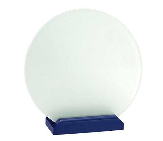 Porta targa in vetro acidato Serie CRI 3100