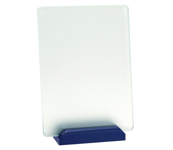 Porta targa in vetro acidato Serie CRI 3300