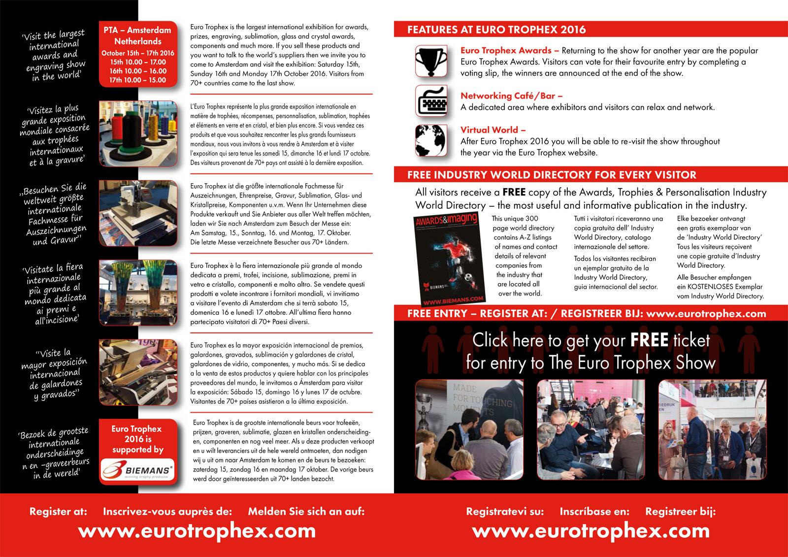 EUROTROPHEX SHOW 2016 – AMSTERDAM