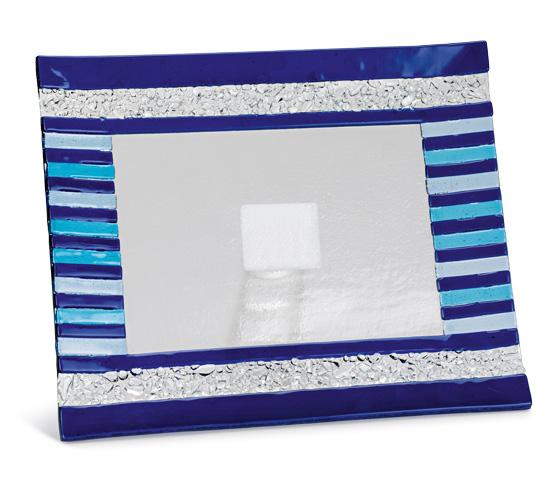 Porta targa e porta oggetti in vetro colorato MUR 10