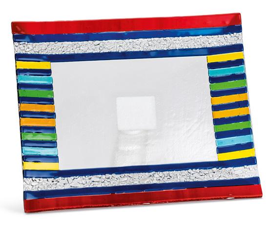 Porta targa e porta oggetti in vetro colorato MUR 20