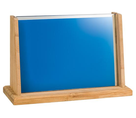 Porta targa in vetro personalizzabile BA 6