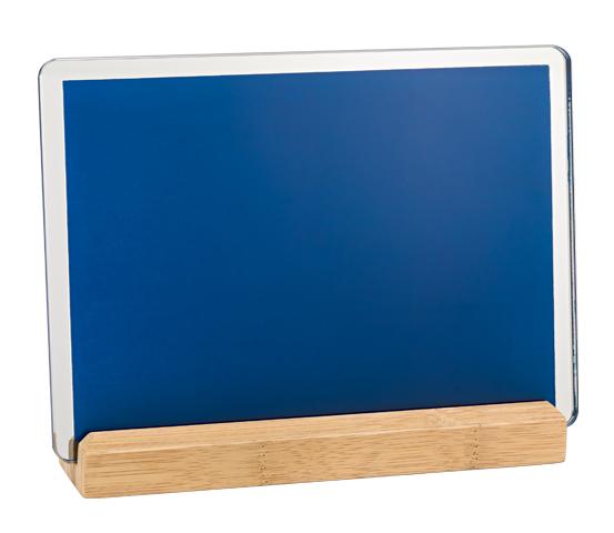 Porta targa in vetro con base serie BA 12