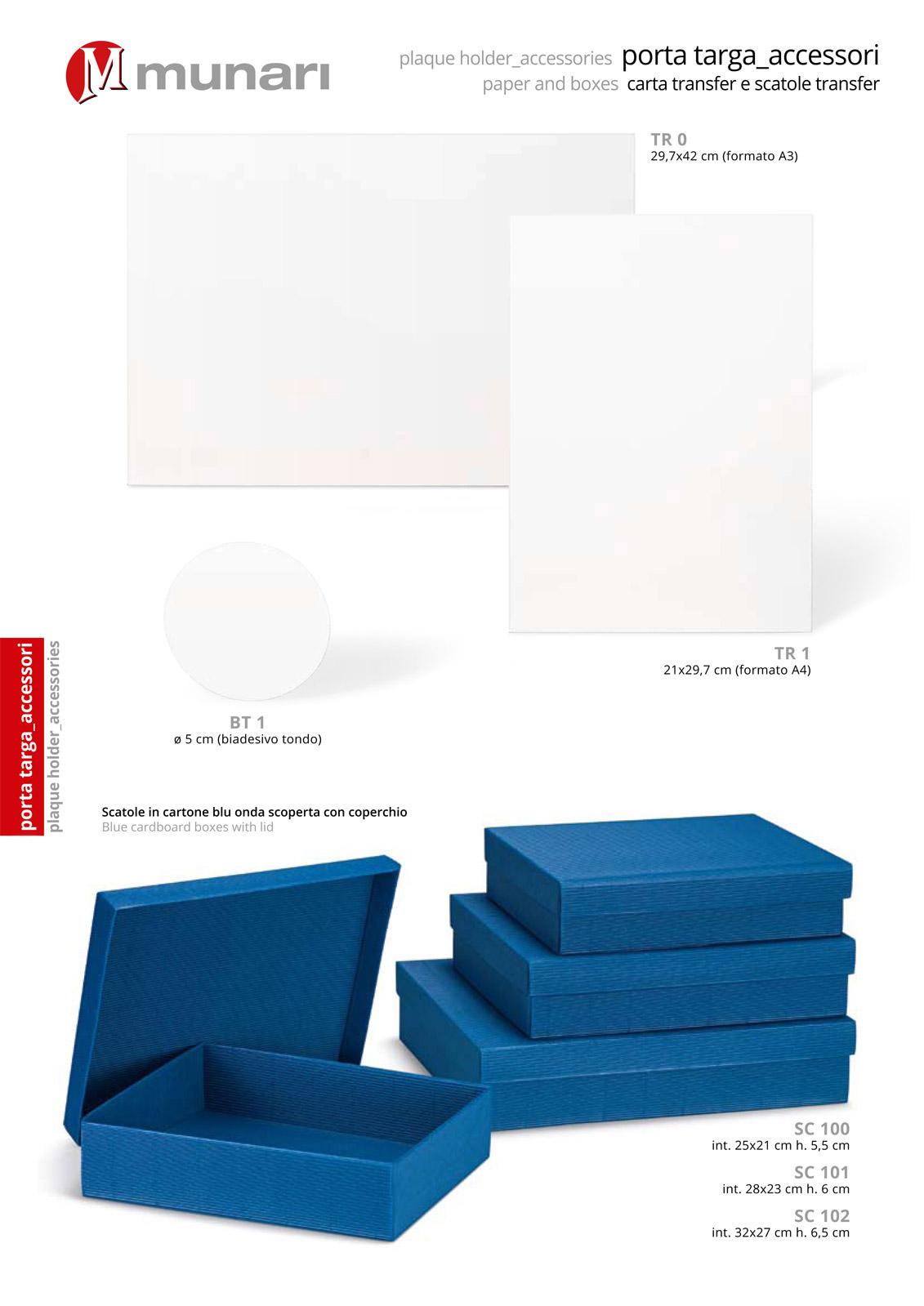 Scatole in cartone con coperchio serie SC 100