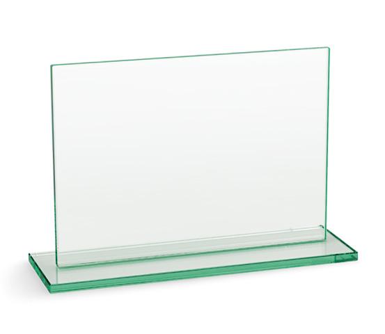 Porta targa in vetro con base serie VT 21