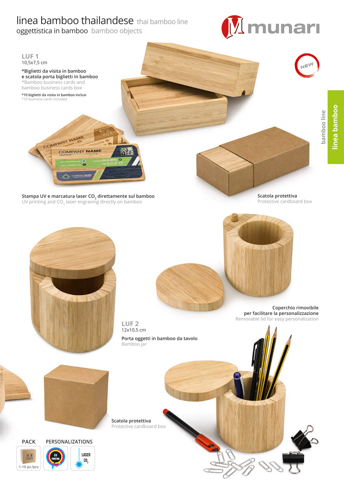 Bamboo business cards holder and bamboo cards LUF 1 - Thai Bamboo ...