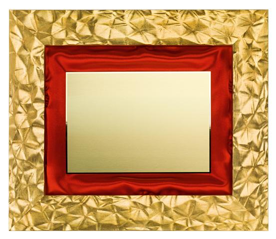 Cornice dorata in LEGNO con targa CNR 400 OT