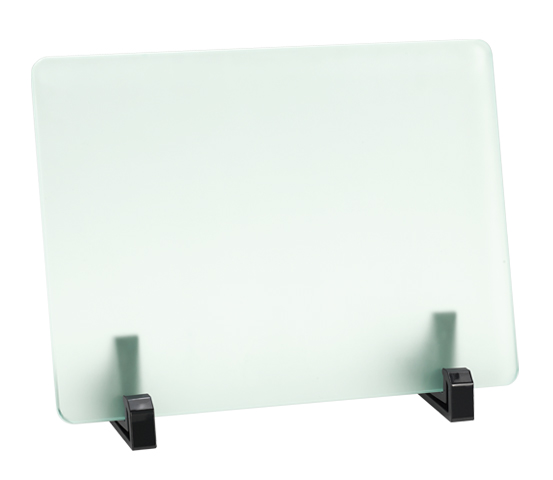 Porta targa in vetro acidato serie VT 14