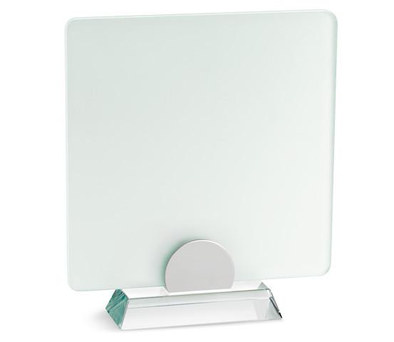 Porta targa in vetro acidato con base in vetro serie VT 17
