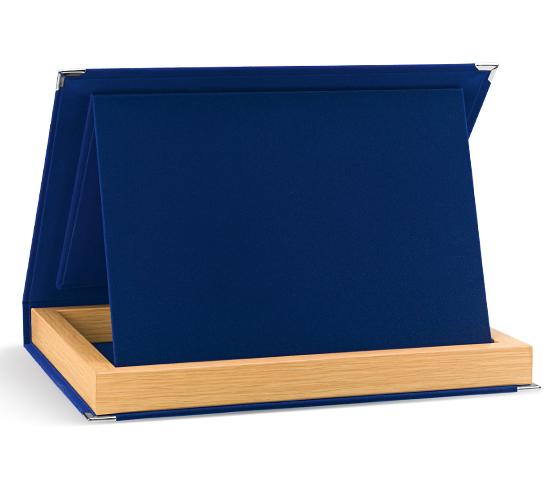 Astucci in velluto blu per targhe serie AS 20