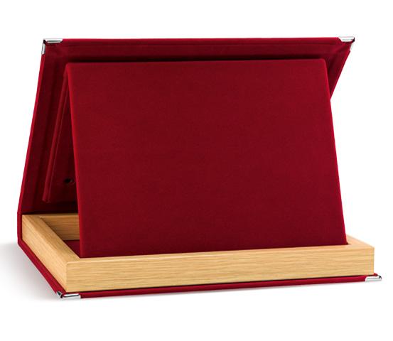 Astucci in velluto rosso per targhe serie AS 20R
