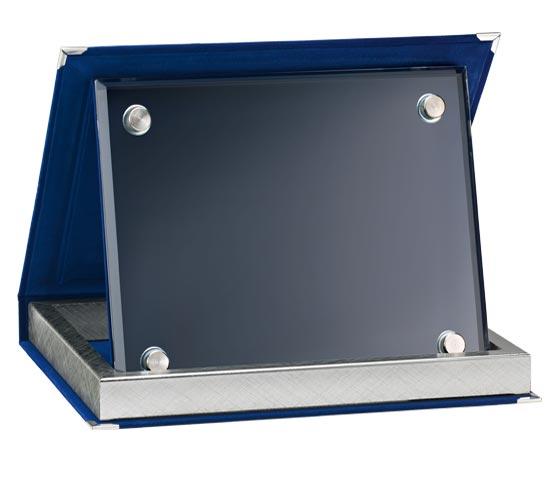 Blue Velvet Boxes with Glass Series AS 10V