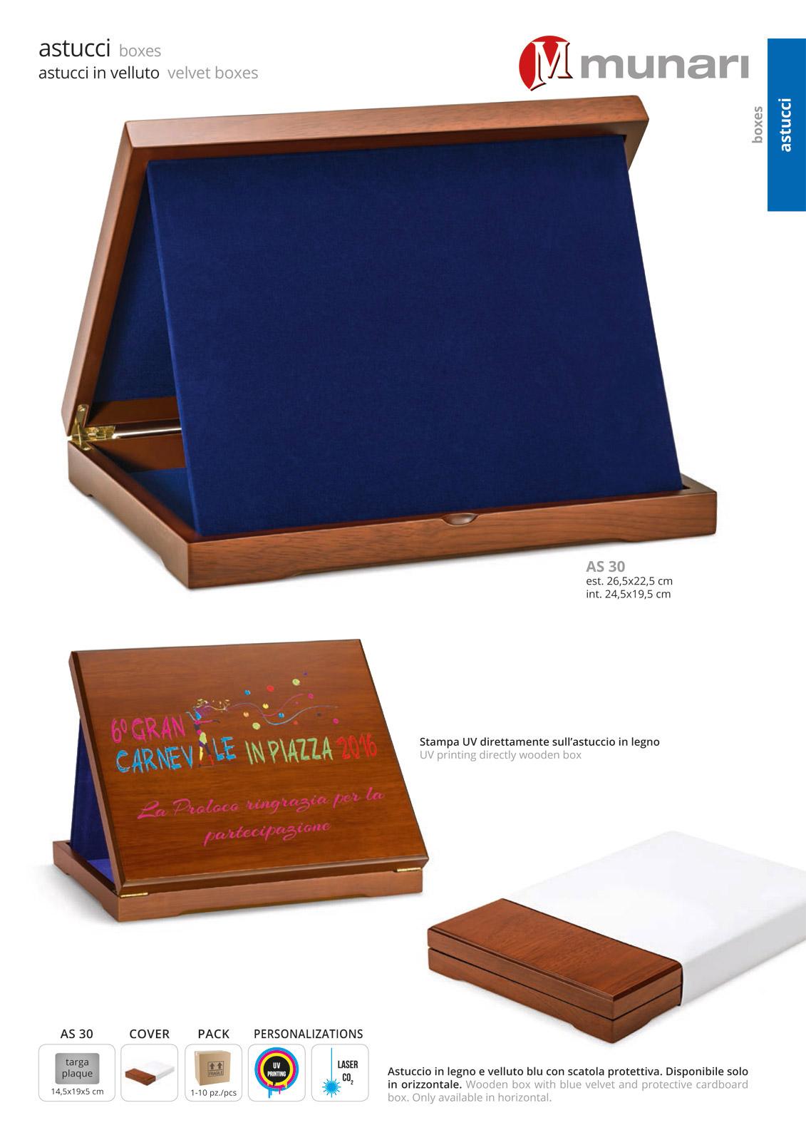 Wooden box with Velvet AS 30
