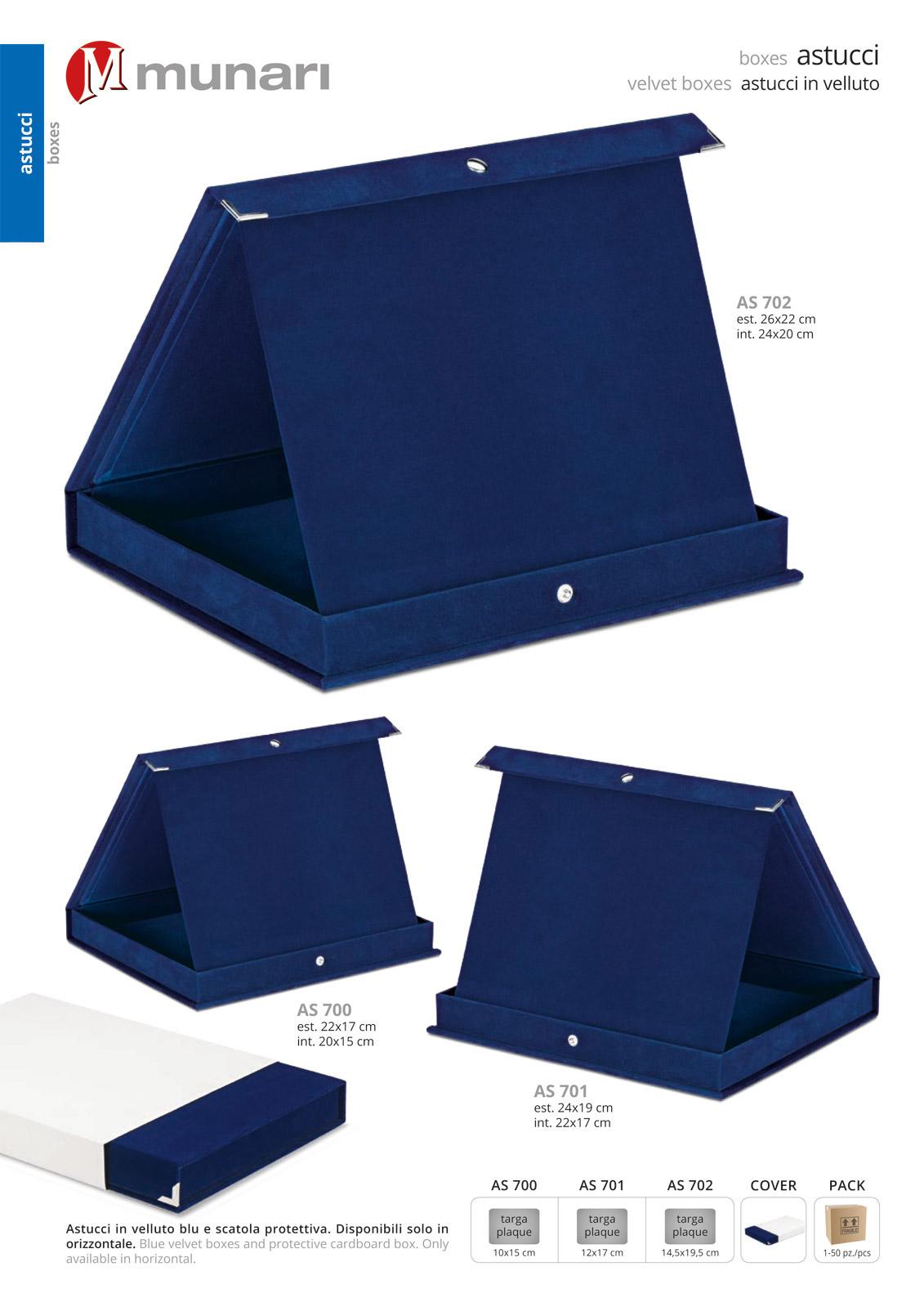 Astucci in velluto blu serie AS 700