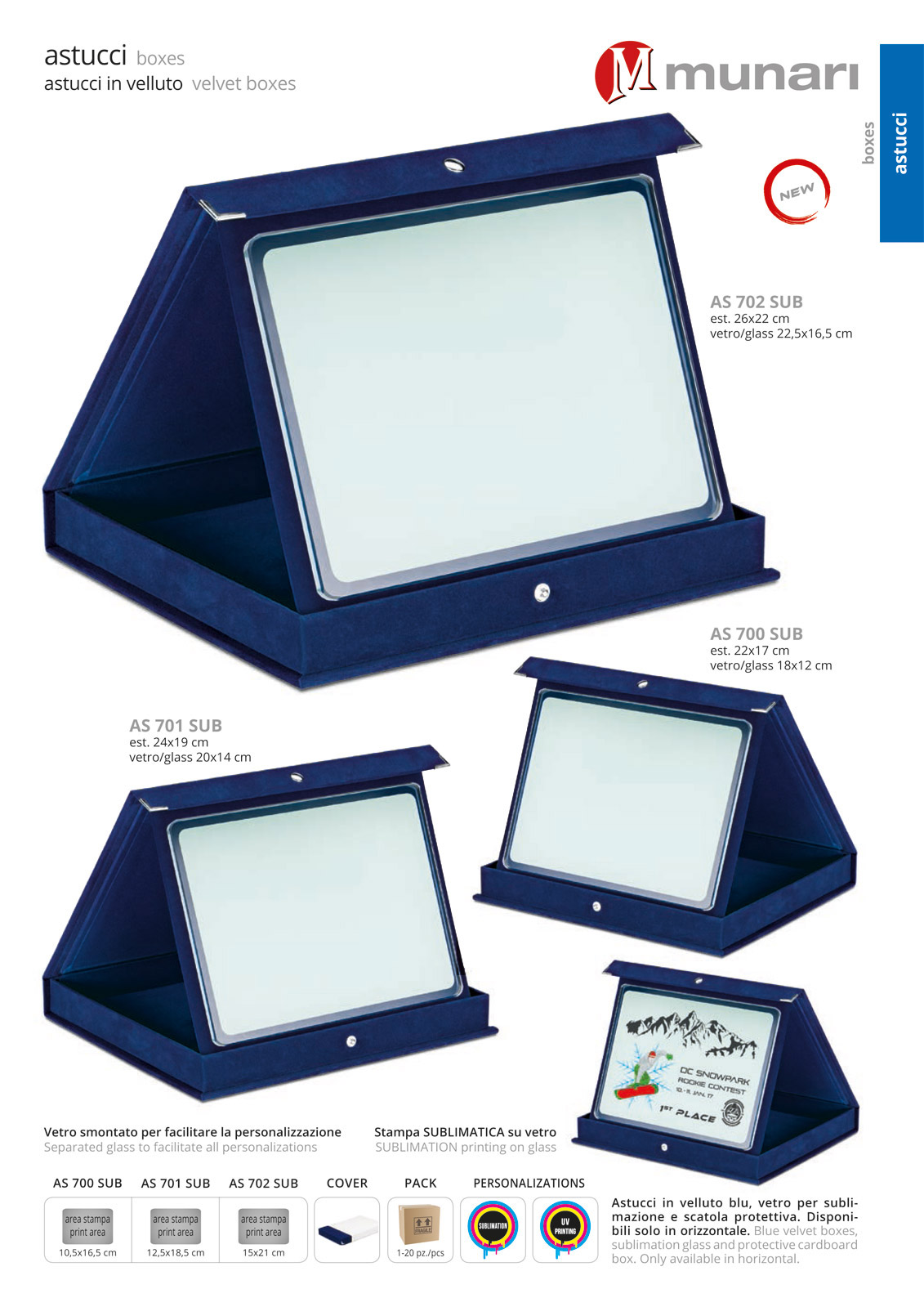 Velvet Boxes with Sublimation Glass Series AS 700V SUB
