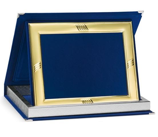 Blue Velvet Boxes with Aluminum Profile Series AS 10PFD