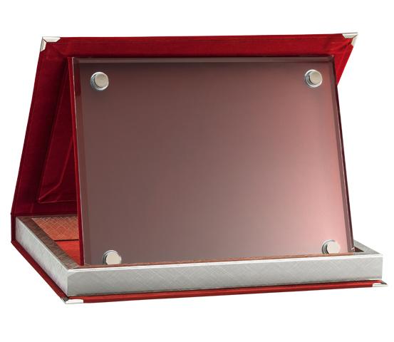 Astucci in velluto rosso con vetro serie AS 10RV