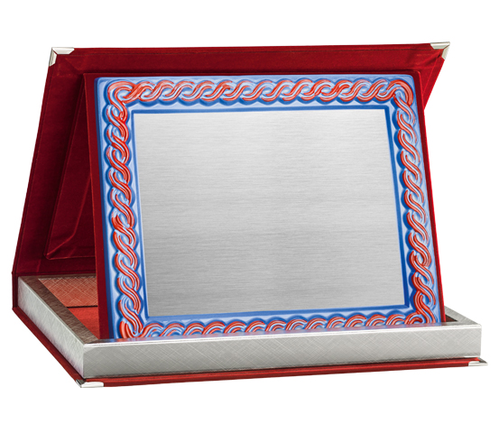 Red Velvet Boxes with Ceramic Plaque Holder Series AS 10RPTC