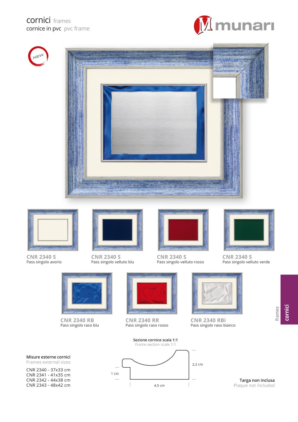 PVC frames series CNR 2340