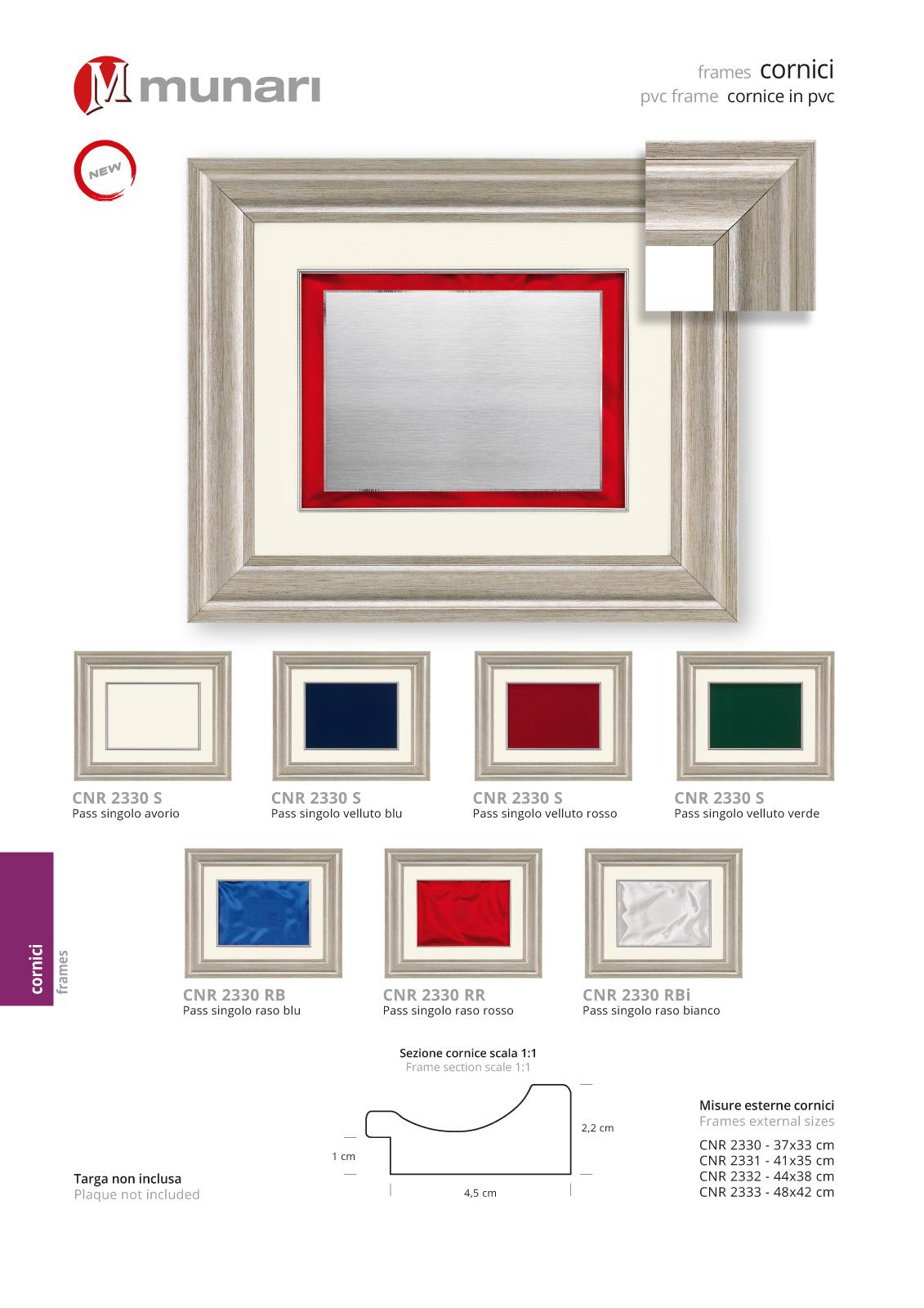 PVC frames series CNR 2330