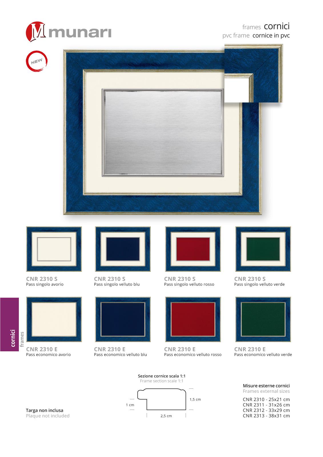 PVC frames series CNR 2310