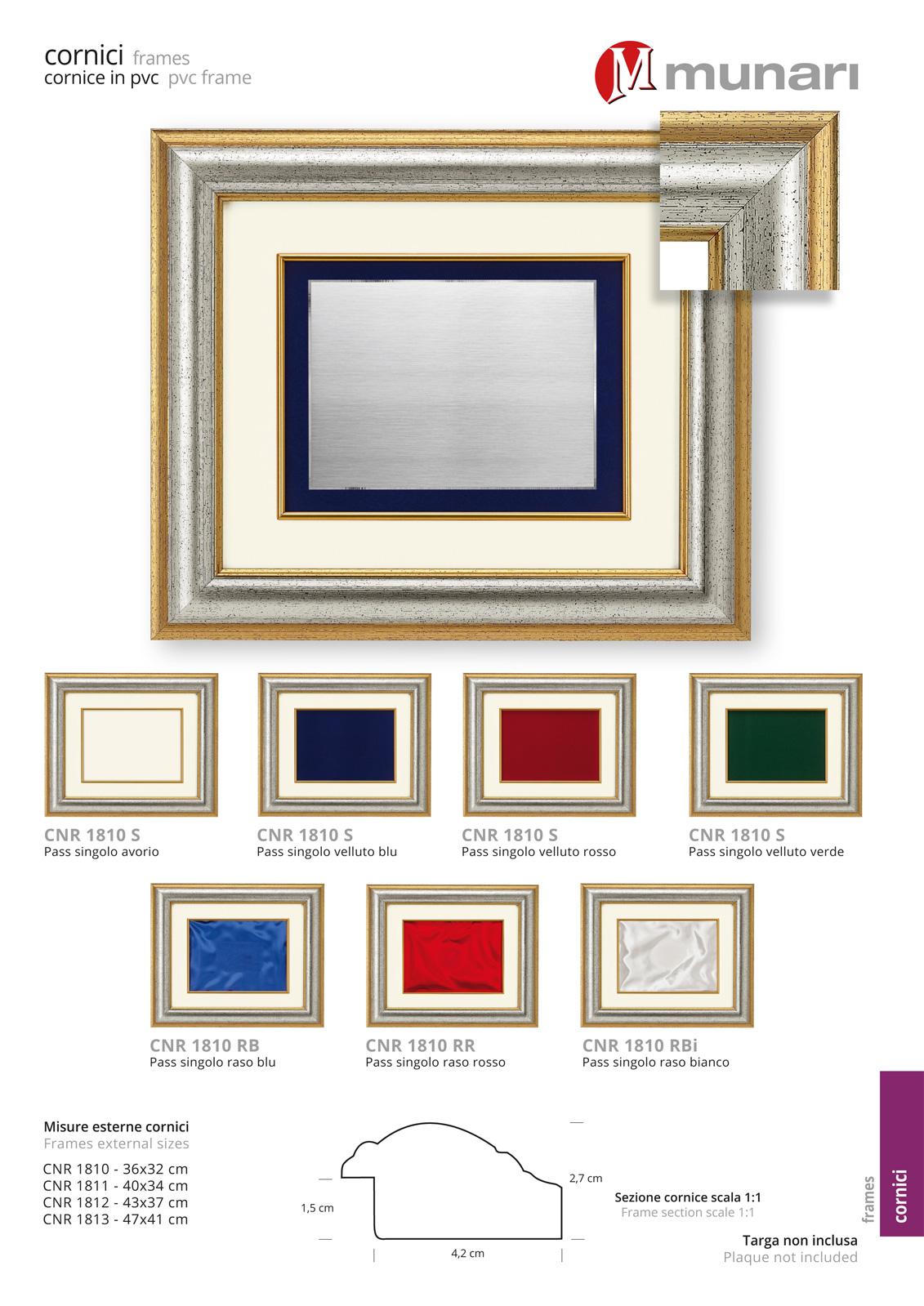 PVC frames series CNR 1810