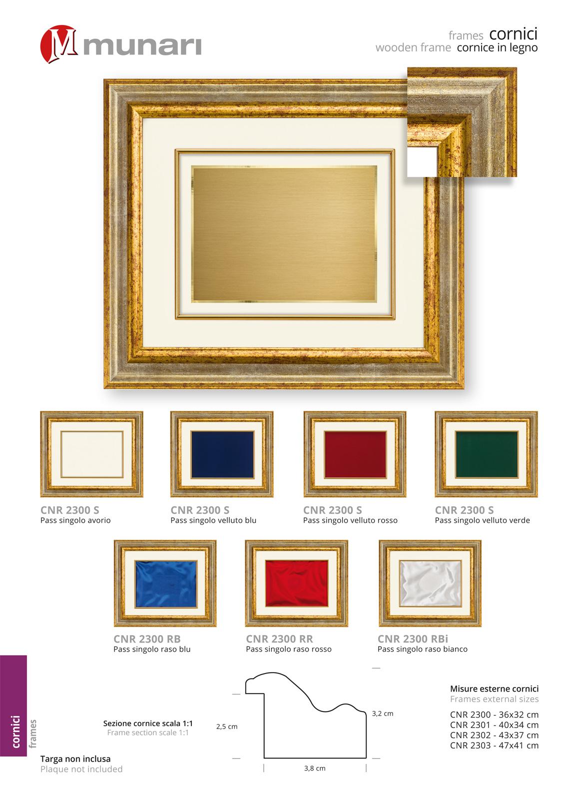 Wooden Frame for Plaque Series CNR 2300