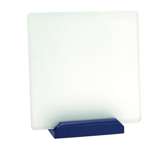 Porta targa in vetro acidato Serie CRI 3200
