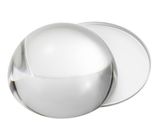 Lente ingrandimento in cristallo con supporto L 80
