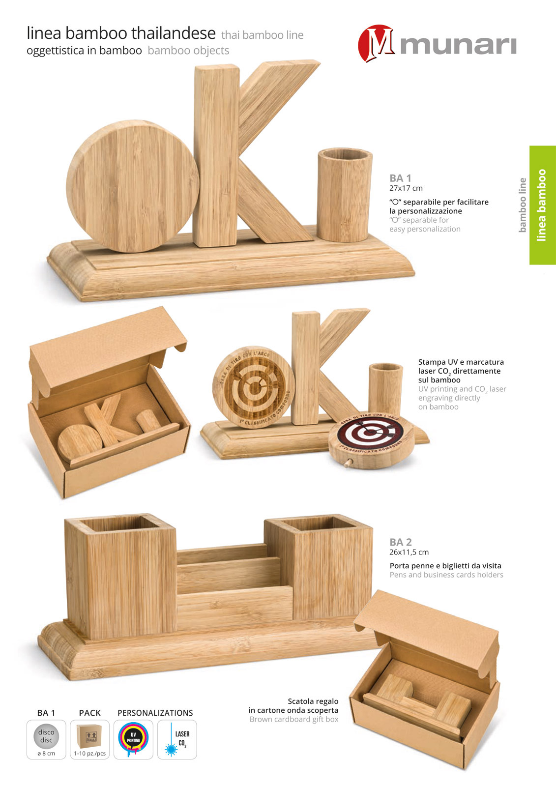 Bamboo Pens and Business Cards Holder BA 2