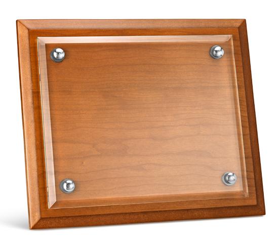 Porta targa in legno e vetro serie PTL 100V