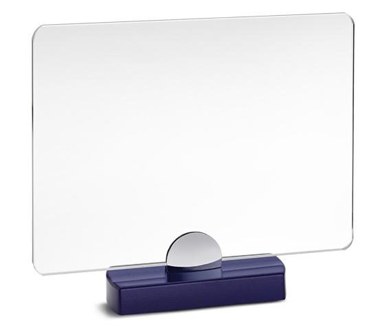 Porta targa in vetro con base in legno serie VT 34