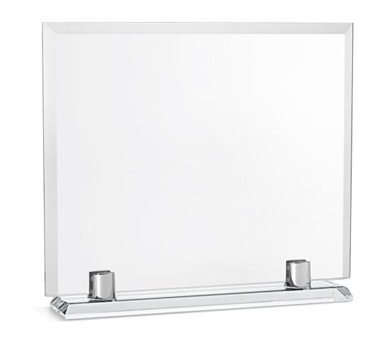 Porta targa in vetro con base in vetro serie VT 37