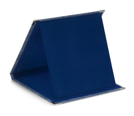 Astucci per targhe in carta e velluto blu serie AS 2000