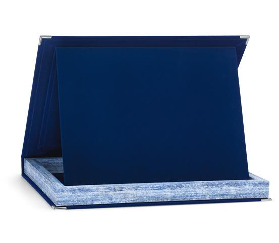 Astucci per targhe in velluto blu serie AS 60
