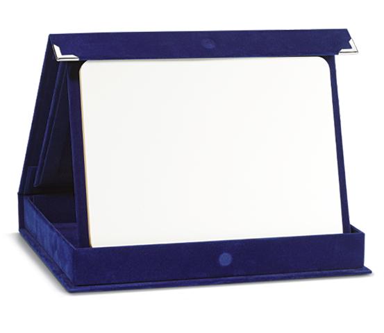 Astucci in velluto blu con legno sublimatico serie AS 700MD SUB
