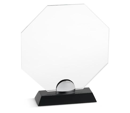 PLX 100 Targa in plexiglass trasparente con base in legno