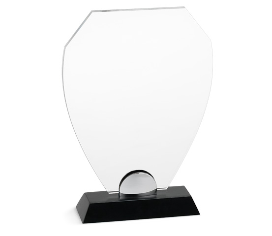 PLX 110 Targa in plexiglass trasparente con base in legno