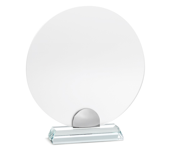 PLX 130 Frosted plexiglas plaque with glass base