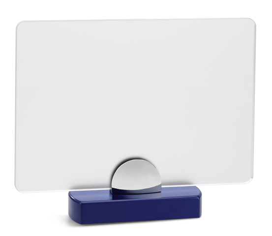 PLX 160 Frosted plexiglas plaque with wooden base