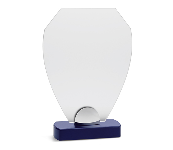 PLX 190 Frosted plexiglas plaque with wooden base