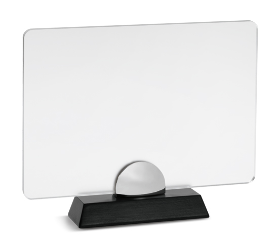 PLX 200 Frosted plexiglas plaque with wooden base
