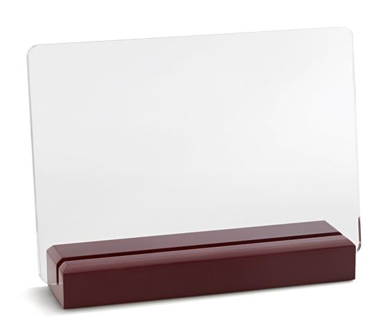 PLX 240 Targhe in plexiglass trasparente con base in legno