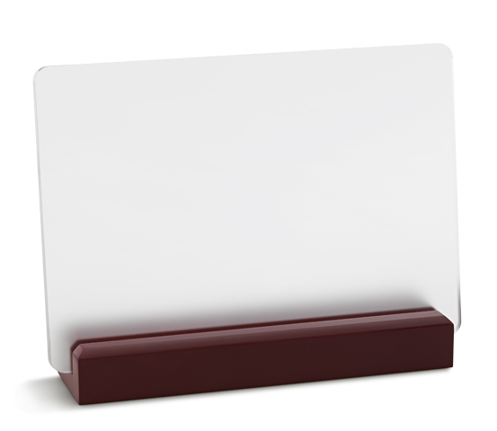 PLX 250 Frosted plexiglas plaque with wooden base