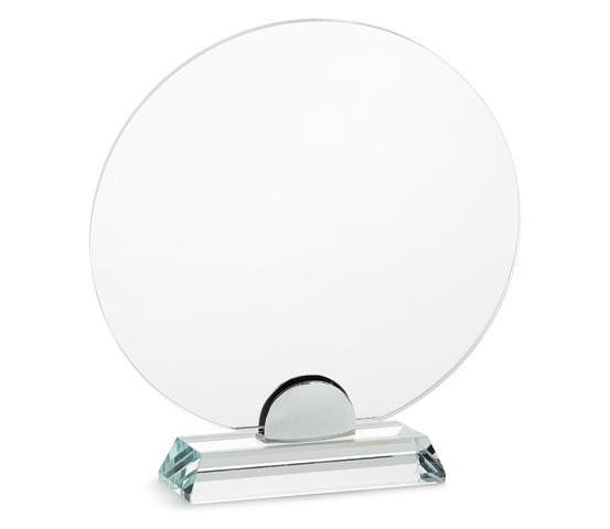 PLX 30 Targa in plexiglass trasparente con base in vetro