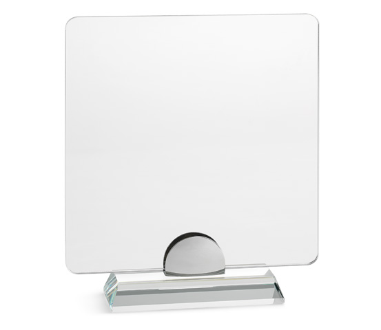 PLX 40 Transparent plexiglas plaque with glass base